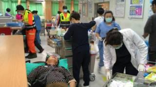 伤者在医院急救