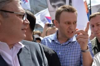 Навальный и Касьянов на митинге