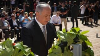 Нетаньяху на церемонии возложения венков в День Холокоста