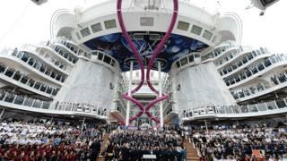 La cubierta del crucero Harmony of the Seas