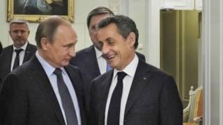 Путин, Саркози, Петербург