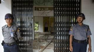 Mosque attacked in Thayethamein village