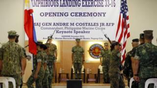 Lễ khai mạc tập trận quân sự chung giữa Hoa Kỳ và Philippines 10/2016