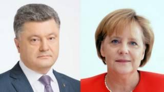 Меркель і Порошенко: ситуація на Донбасі погіршується