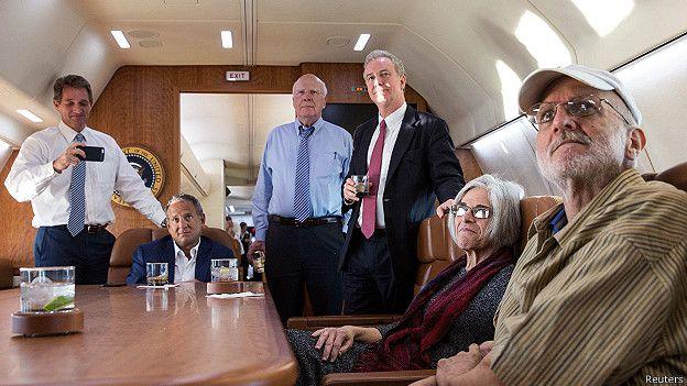 Alan Gross en el avión