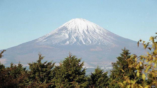 Monte Fuji, no Japão (Foto: BBC)