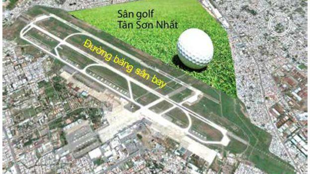 Image result for sân golf và sân bay