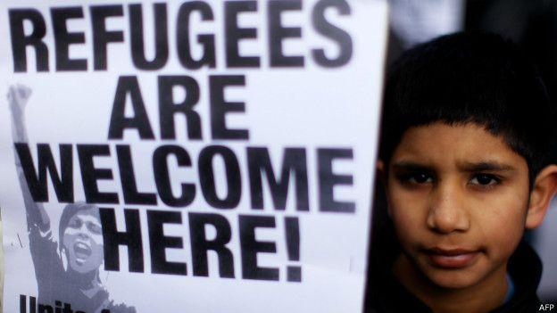Демонстрация против насильственных депортаций