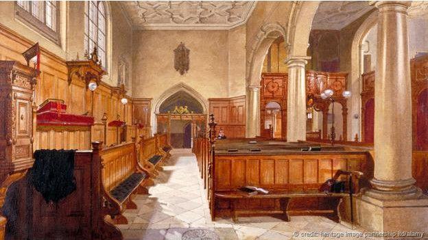 Otra acuarela de Charterhouse por John Crowther