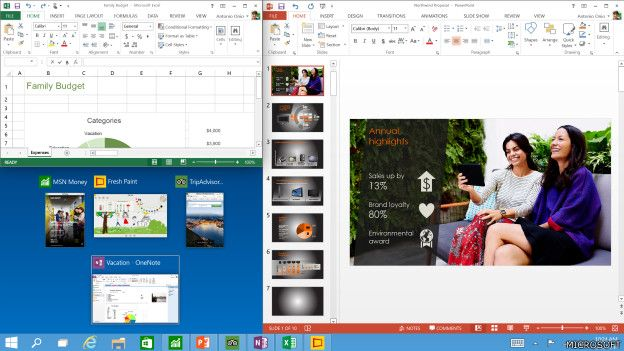Imagen de la navegaci'on de Windows 10