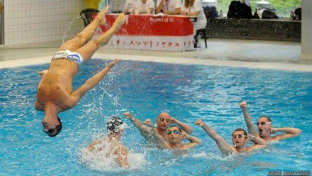 Resultado de imagen para nado sincronizado hombres