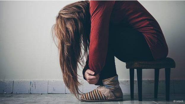 Una persona con depresión