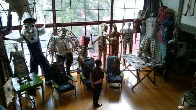 Estudio de Diego Rivera en Ciudad de México. Foto: BBC