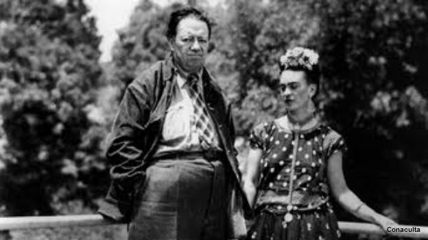 Diego Rivera y Frida Kahlo. Foto: cortesía Consejo Nacional para la Cultura y las Artes.
