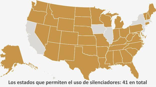 Los estados que permiten en uso de silenciadores