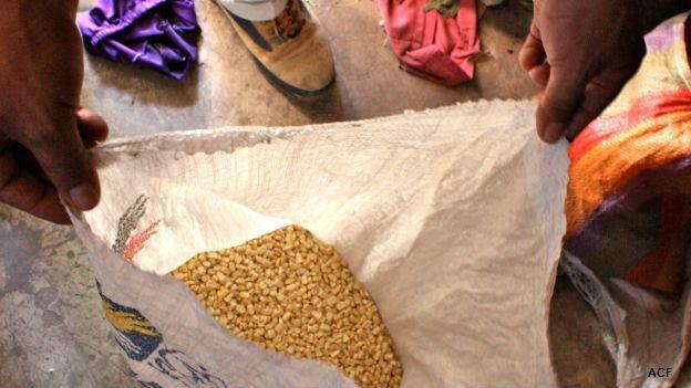 Reparto de alimentos en Guatemala por la canicula. Foto: cortesía Acción contra el Hambre.