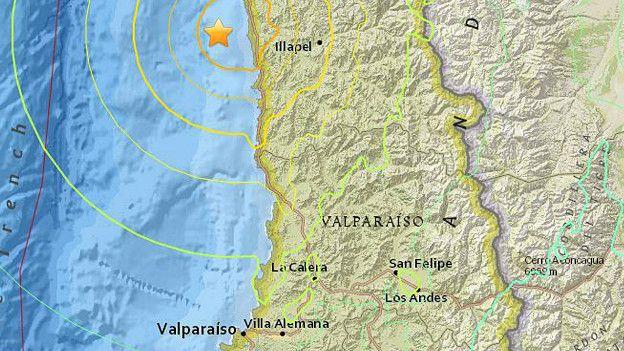 Poderoso terremoto de 83 sacude zona centronorte de Chile  BBC