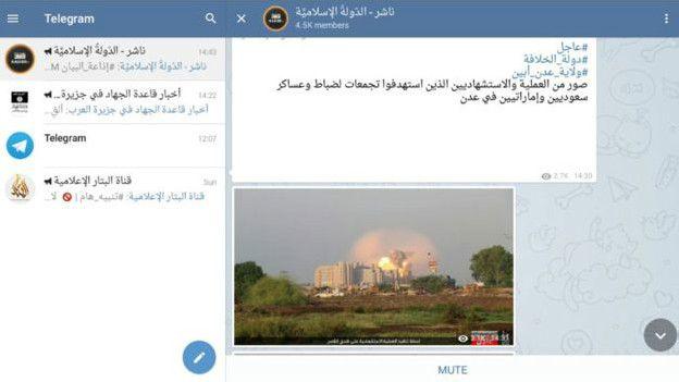Estado Islámico ya ha reinvindicado uno de sus ataques por Telegram.