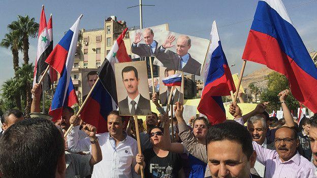 Marcha a favor de Putin
