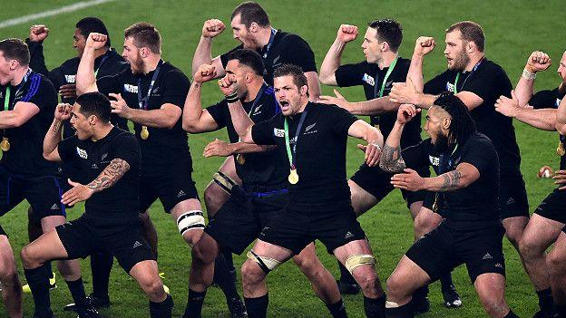 Resultado de imagen de fotos del equipo de rugby neozelandes