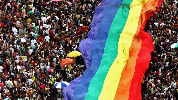 Manifestación pro gay