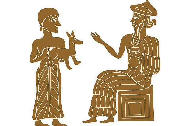 Enlil, dios del viento, recibe un animal de regalo