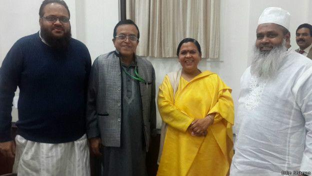 बदरुद्दीन अजमल, उमा भारती
