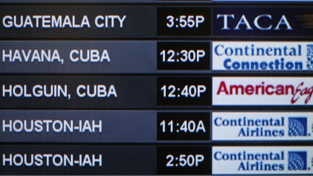 Anuncio de vuelo charter con destino a La Habana