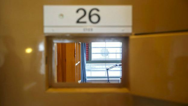 Celda en la cárcel de Skien