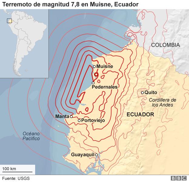 Terremoto de magnitud 78 en la zona costera de Ecuador deja ms