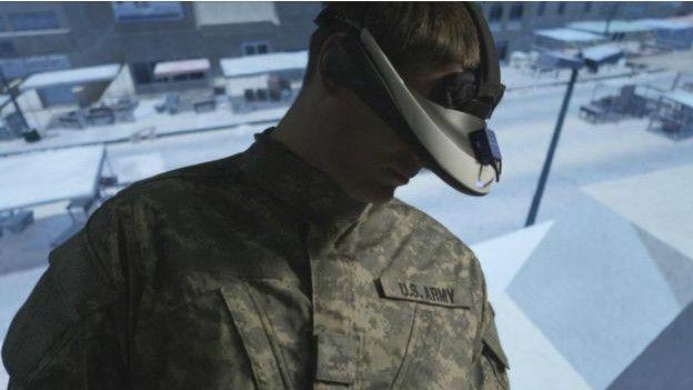 El ejército de Estados Unidos utiliza la realidad virtual para sus entrenamientos.