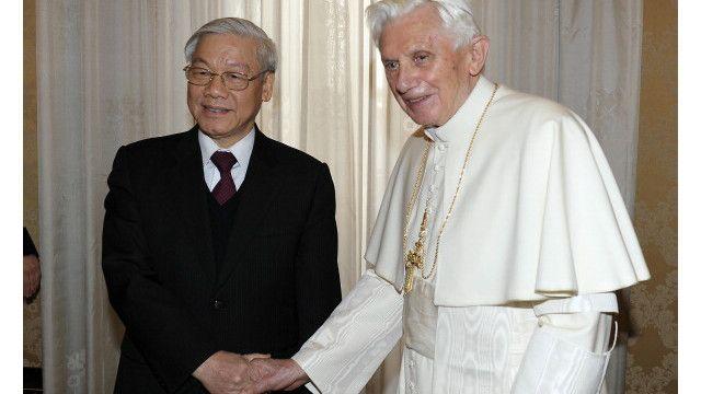 Ông Nguyễn Phú Trọng và cựu Giáo hoàng