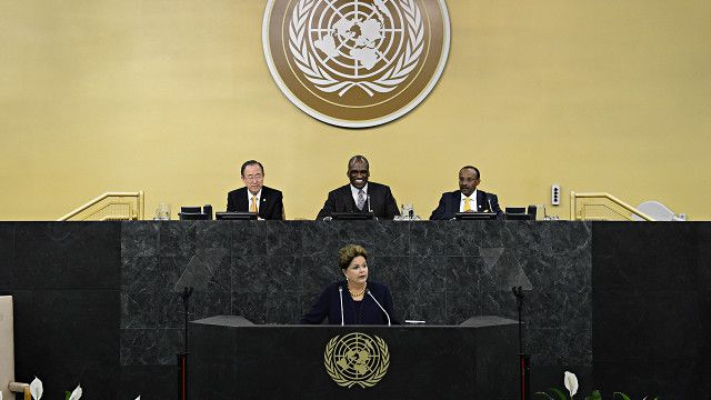 Sesión de la Asamble General de la ONU