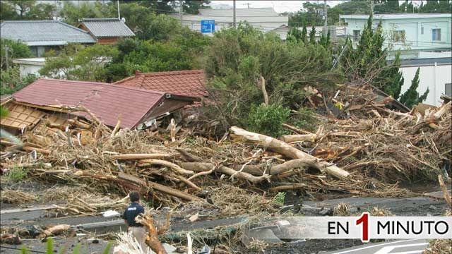 Devastación causada por el tifón Wipha