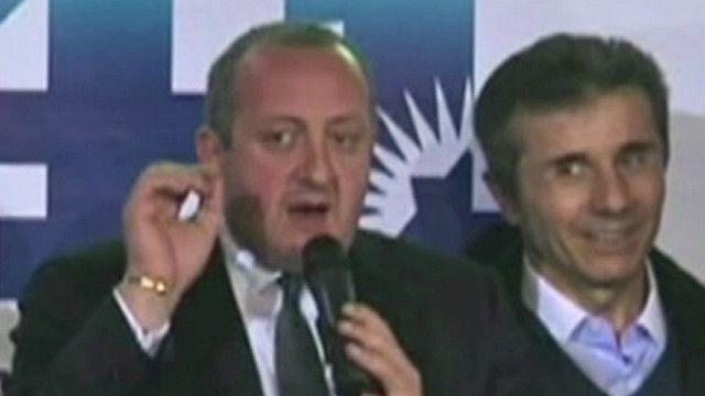 Георгий Маргвелашвили в ночь после выборов