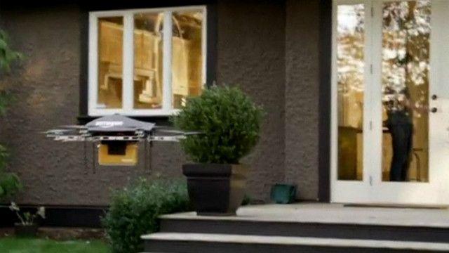 Drone da Amazon   Foto: BBC