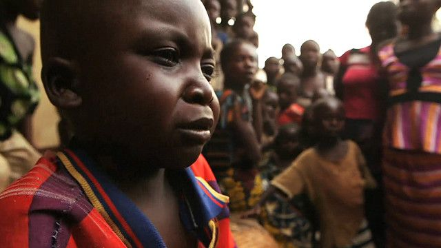 Niño huérfano en República Centroafricana