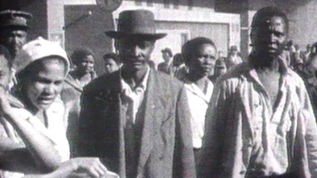Comunidad negra durante el Apartheid