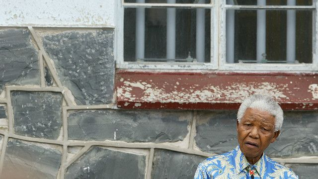 Nelson Mandela en Robben Island