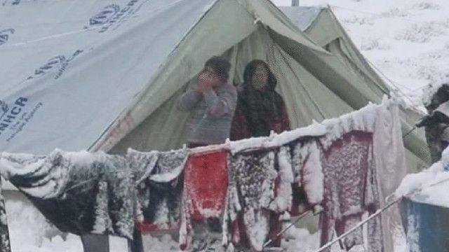 خيمة للاجئين السوريين