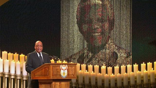 Tổng thống Nam Phi Zuma tại quốc tang ông Nelson Mandela