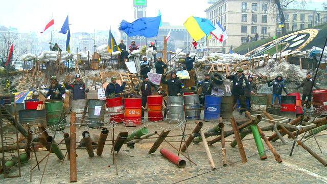 Участники Майдана готовятся к отражению нападения