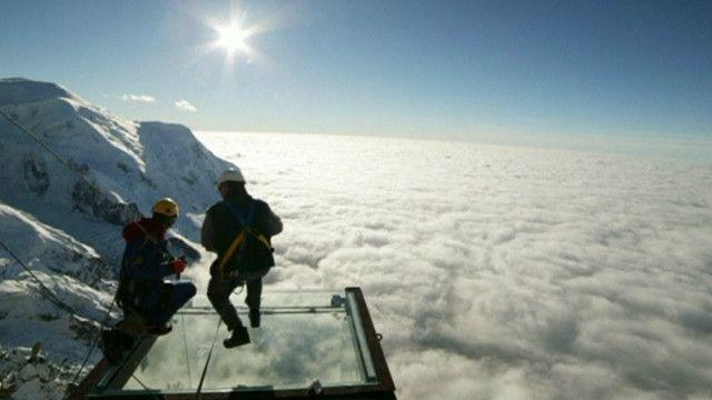 Mirante nos alpes franceses. Foto: reprodução de vídeo