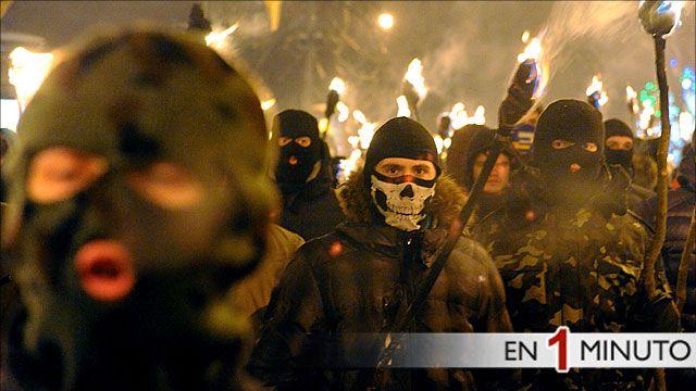 Manifestación en la ciudad ucraniana de Lviv