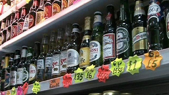 رف يحتوي على كحول