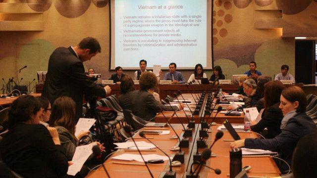 Vận động nhân quyền cho Việt Nam ở Liên Hợp Quốc Geneva