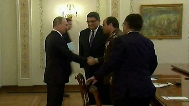 فلاديمير بوتين وعبدالفتاح السيسي