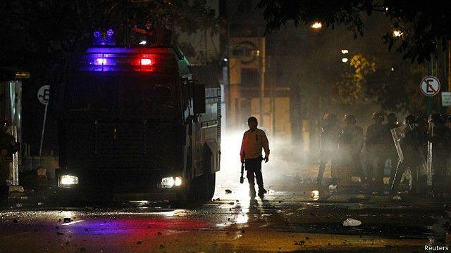 policía antimortines en Caracas