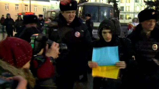 Задержания во время акции протеста в Москве