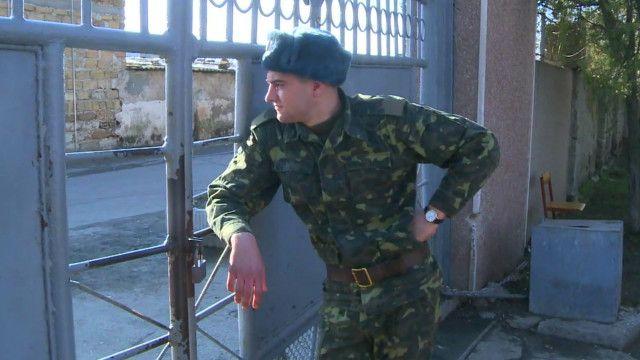 На военной базе в Евпатории
